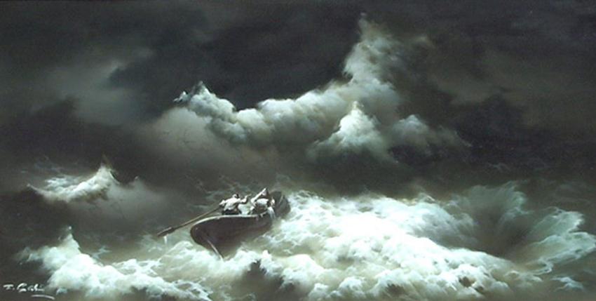 Eugene_Garin_Untitled_Seascape_with_Rowboat