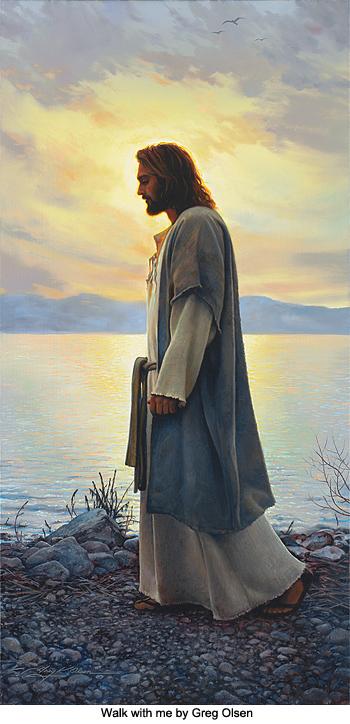 Christ Walking On Shoreline 001