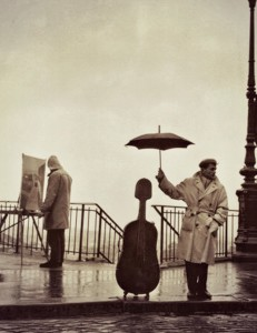 Doisneau Robert Musican in the Rain